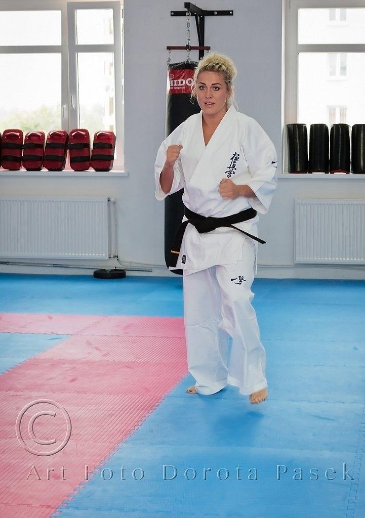 """Trening kumite z Sensei Marią Jasko 23.07.2016 r. w Białostockim Klubie Karate Kyokushin """"KANKU"""""""
